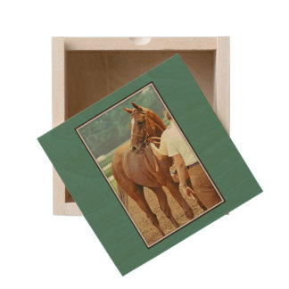 Affirmed Thoroughbred Racehorse 1978 Wooden Keepsake Box