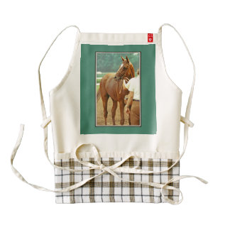 Affirmed Thoroughbred Racehorse 1978 Zazzle HEART Apron
