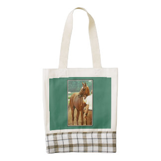 Affirmed Thoroughbred Racehorse 1978 Zazzle HEART Tote Bag