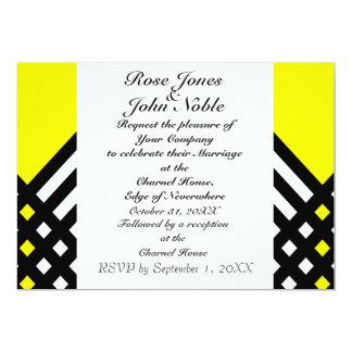 Affix Ebony III (Yellow) Wedding Invitation