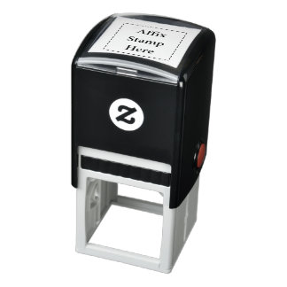 Affix Stamp Here Self-Inking Rubber Stamp