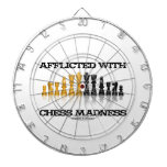 Afflicted With Chess Madness Reflective Chess Set Dartboard With Darts
