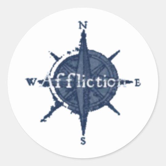 Affliction Classic Round Sticker