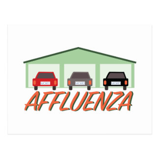 Affluenza  postcard