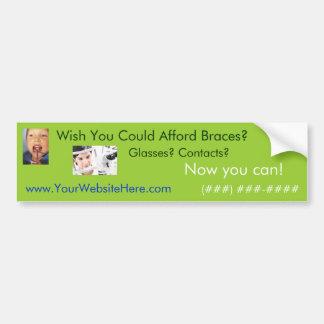 Afford Braces Bumper Sticker