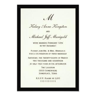 Affordable Cheap Post Wedding Reception Cream 5x7 Paper Invitation Card