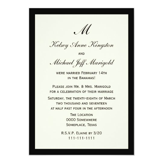 Post Wedding Party Invitation: Rustic Brown & Lights Post-Wedding Reception Only