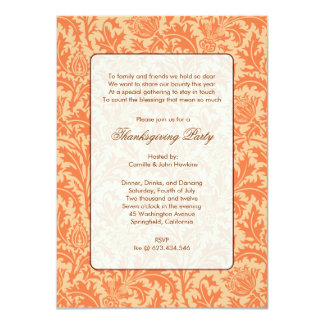 Affordable Luxe Damask Thanksgiving Card