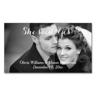 Affordable Photo Save the Date Magnet Magnetic Business Card