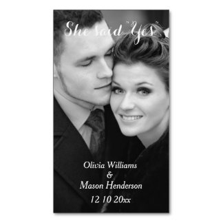 Affordable Photo Save the Date Magnet - vertical Magnetic Business Card
