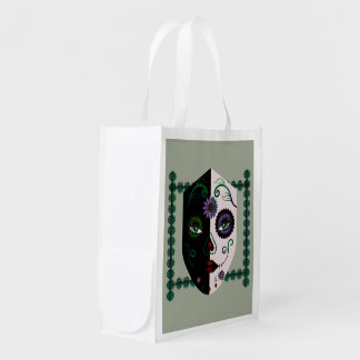 Affordable Skull Face Re-usable Bags Gothic
