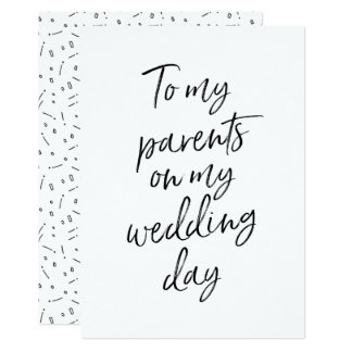 Affordable To my parents on my wedding day Card