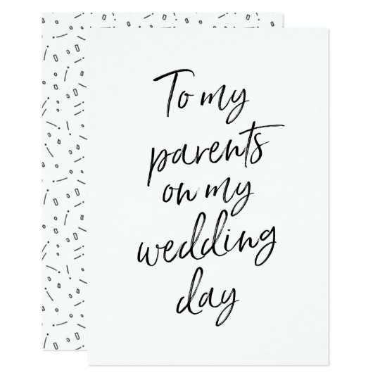 Affordable To My Parents On My Wedding Day Invitation Zazzle Com