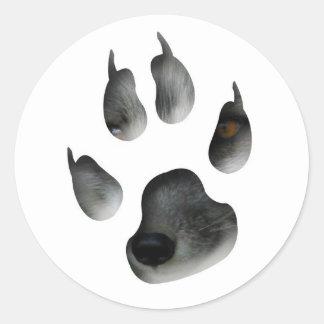 AFG Arctic Fox Glimpse Classic Round Sticker