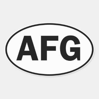 AFG Oval ID Oval Sticker