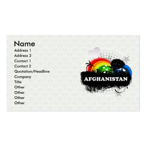 Afganistán con sabor a fruta lindo plantillas de tarjeta de negocio