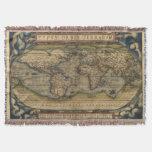 Afgano del mapa del mundo del vintage manta