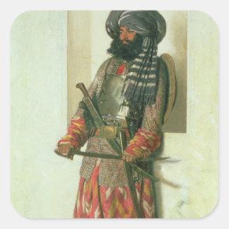 Afghan, 1870 square sticker
