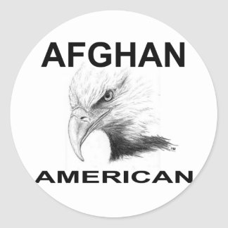 Afghan-American Classic Round Sticker