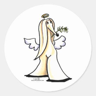 Afghan Angel Classic Round Sticker
