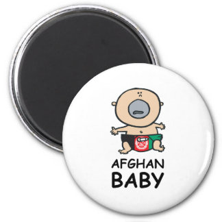 Afghan Baby 2 Inch Round Magnet