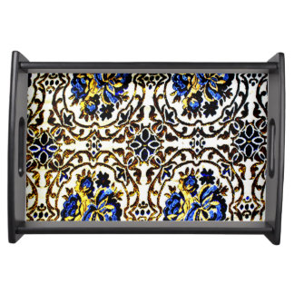 Afghan Bedcover Design Serving Tray