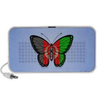 Afghan Butterfly Flag on Blue Speaker System