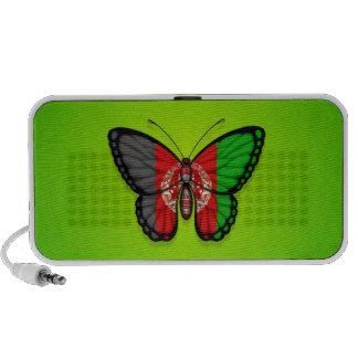 Afghan Butterfly Flag on Green Mini Speaker