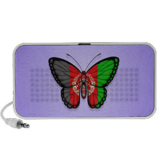 Afghan Butterfly Flag on Purple iPhone Speaker