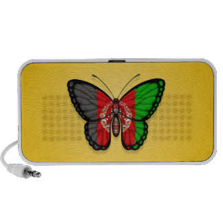Afghan Butterfly Flag on Yellow Speaker