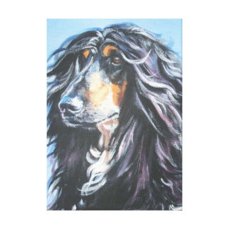 Afghan Dog Fine Art Painting on Wrapped Canvas