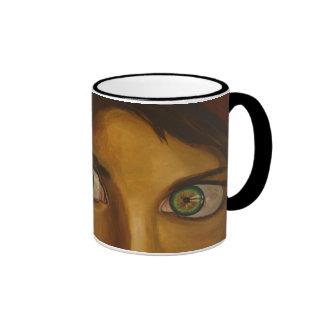 Afghan Eyes Ringer Coffee Mug