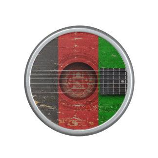 Afghan Flag on Old Acoustic Guitar Speaker