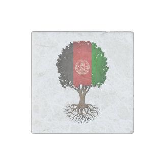 Afghan Flag Tree of Life Customizable Stone Magnet