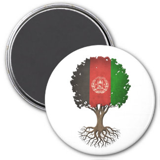 Afghan Flag Tree of Life Customizable Refrigerator Magnet