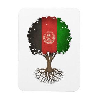 Afghan Flag Tree of Life Customizable Rectangular Magnet