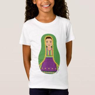 Afghan Girl Matryoshka Girls Baby Doll (Fitted) T-Shirt