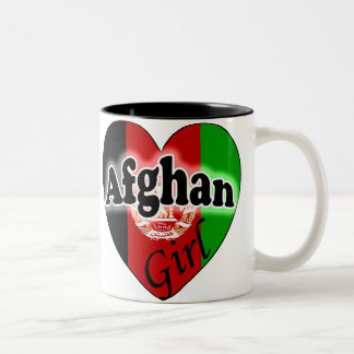 Afghan Girl Two-Tone Coffee Mug