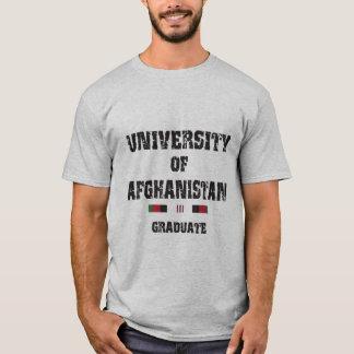Afghan graduate distressed 2 w/skull 1 back T-Shirt
