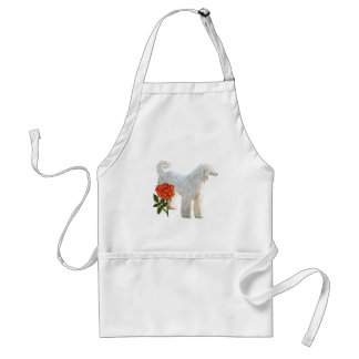 Afghan hound and rose adult apron