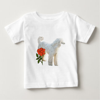 Afghan hound and rose baby T-Shirt