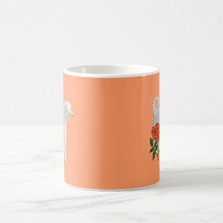 Afghan hound and rose coffee mug