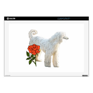 Afghan hound and rose decals for laptops