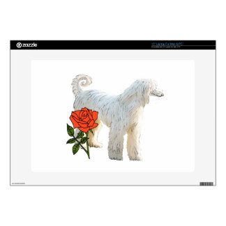 """Afghan hound and rose skin for 15"""" laptop"""