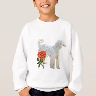 Afghan hound and rose sweatshirt