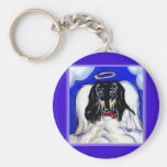 Afghan hound angel key chains