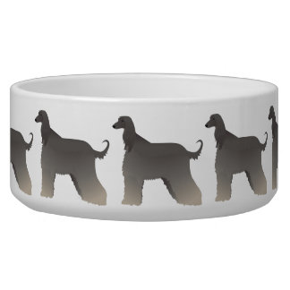 Afghan Hound Basic Breed Silhouette Bowl