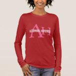 Afghan Hound Breed Monogram Long Sleeve T-Shirt