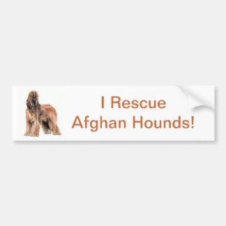 Afghan Hound Car Bumper Sticker