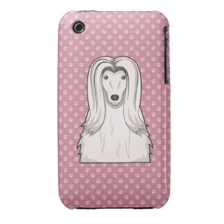 Afghan Hound Cartoon Paws iPhone 3 Cases
